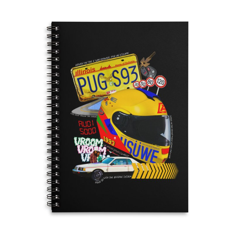 Audi 5000 Accessories Lined Spiral Notebook by USUWE by Pugs Atomz