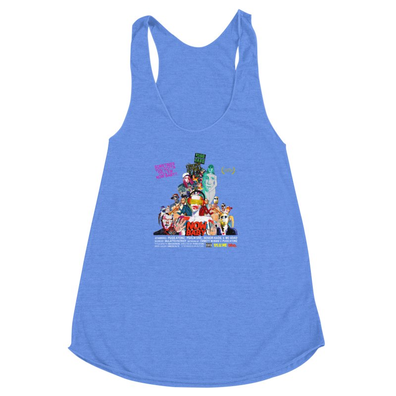 Now Baby Women's Racerback Triblend Tank by USUWE by Pugs Atomz
