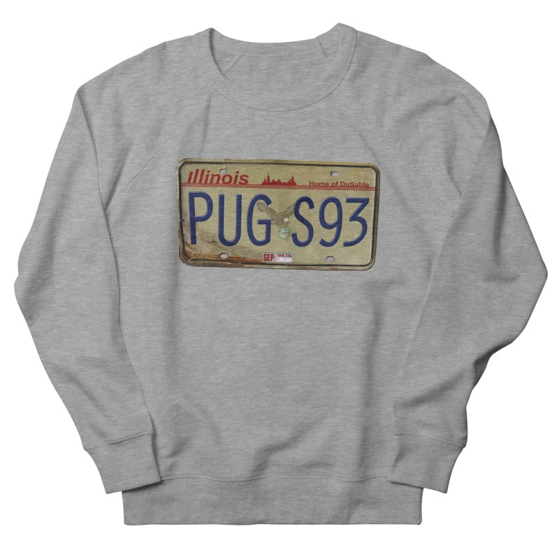 License Plate Women's French Terry Sweatshirt by USUWE by Pugs Atomz