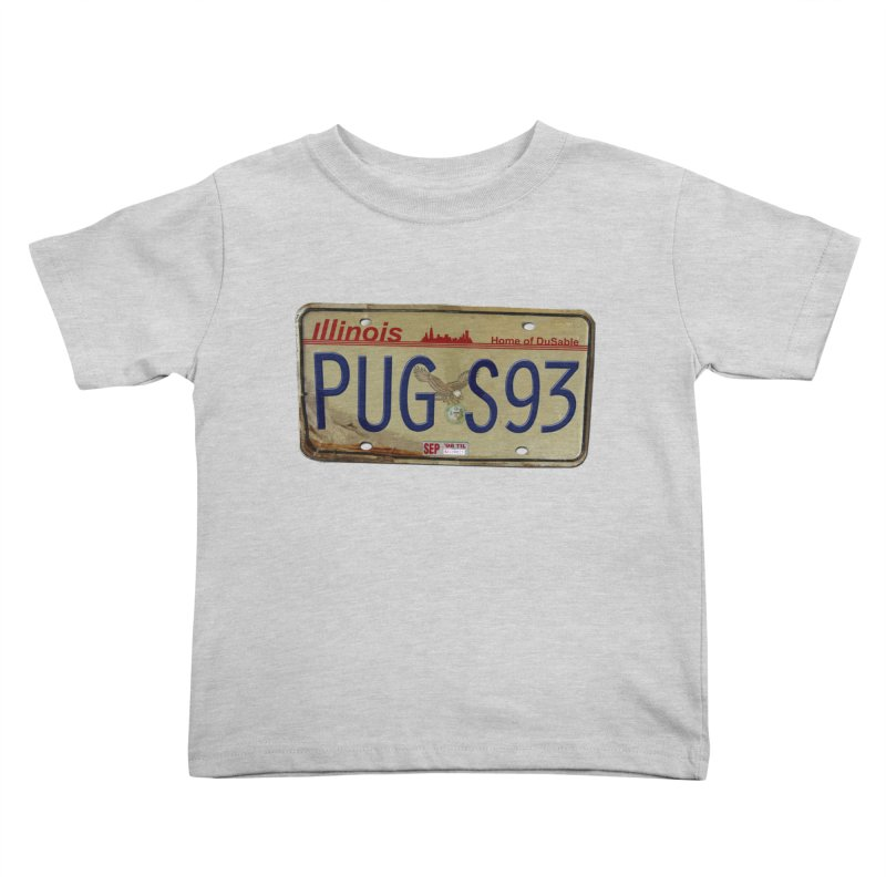 License Plate Kids Toddler T-Shirt by USUWE by Pugs Atomz