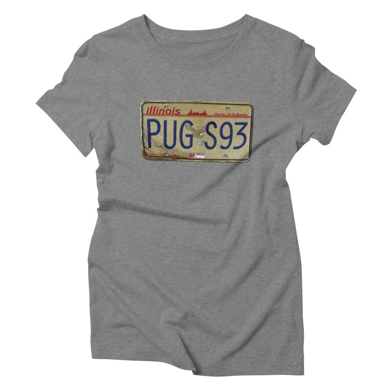 License Plate Women's Triblend T-Shirt by USUWE by Pugs Atomz