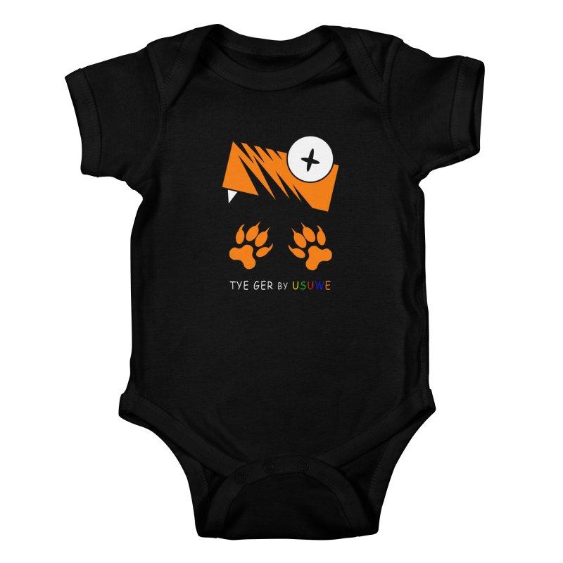 Tye Ger Kids Baby Bodysuit by USUWE by Pugs Atomz