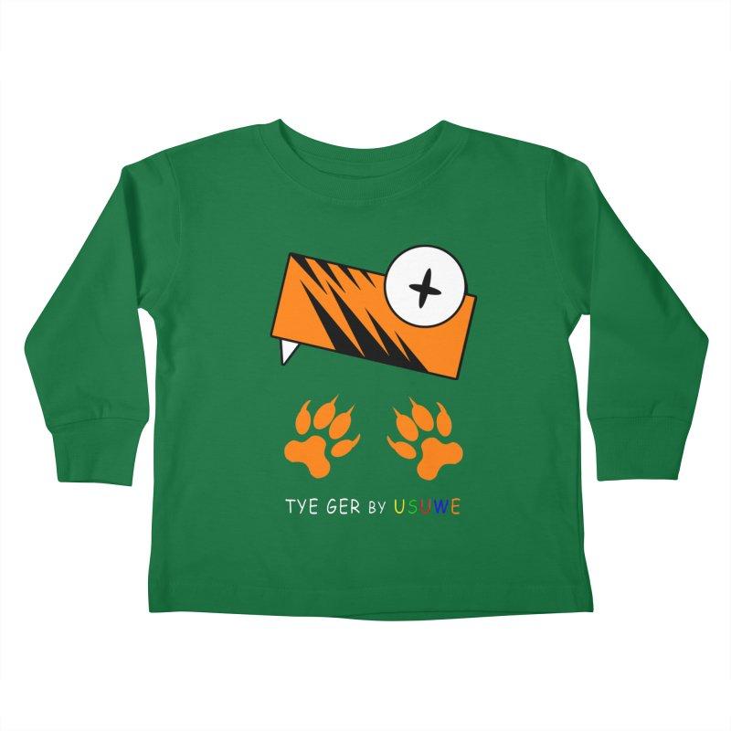 Tye Ger in Kids Toddler Longsleeve T-Shirt Kelly Green by USUWE by Pugs Atomz