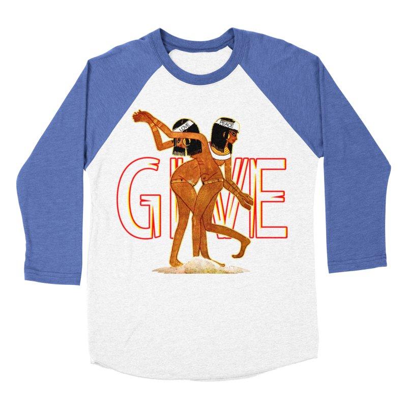 Love & Peace Women's Baseball Triblend Longsleeve T-Shirt by USUWE by Pugs Atomz