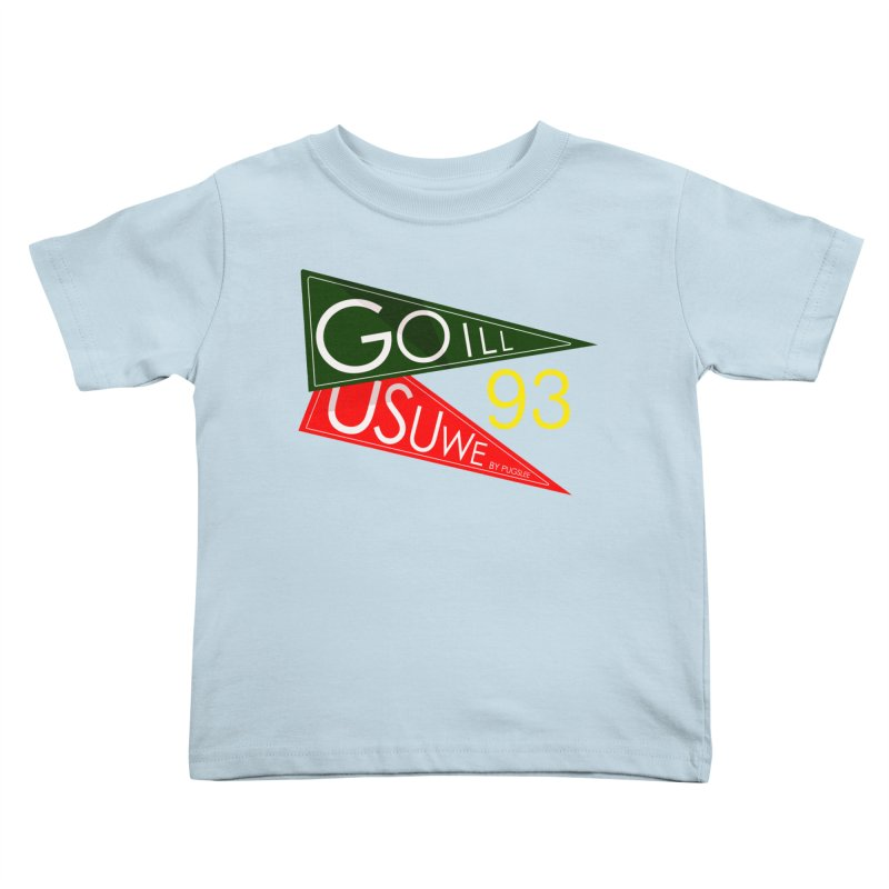 Game Day Kids Toddler T-Shirt by USUWE by Pugs Atomz