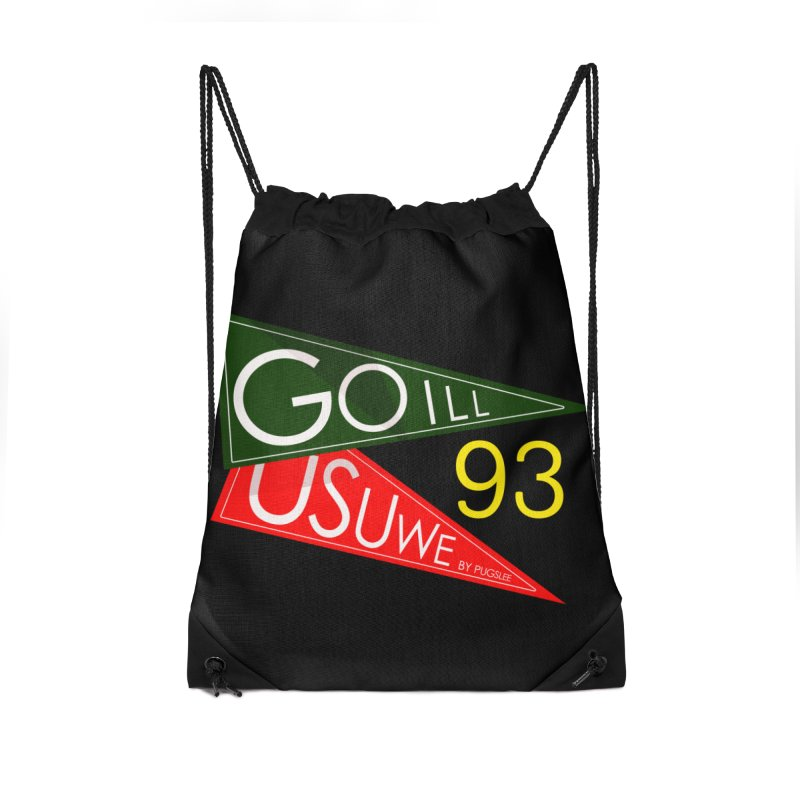 Game Day Accessories Drawstring Bag Bag by USUWE by Pugs Atomz