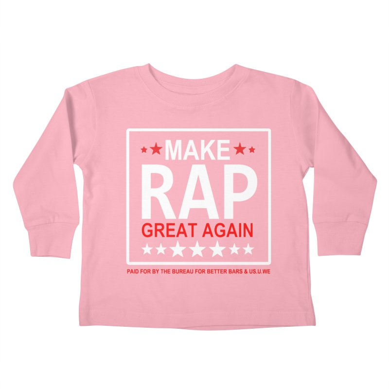 M.R.G.A. BLACK Kids Toddler Longsleeve T-Shirt by USUWE by Pugs Atomz