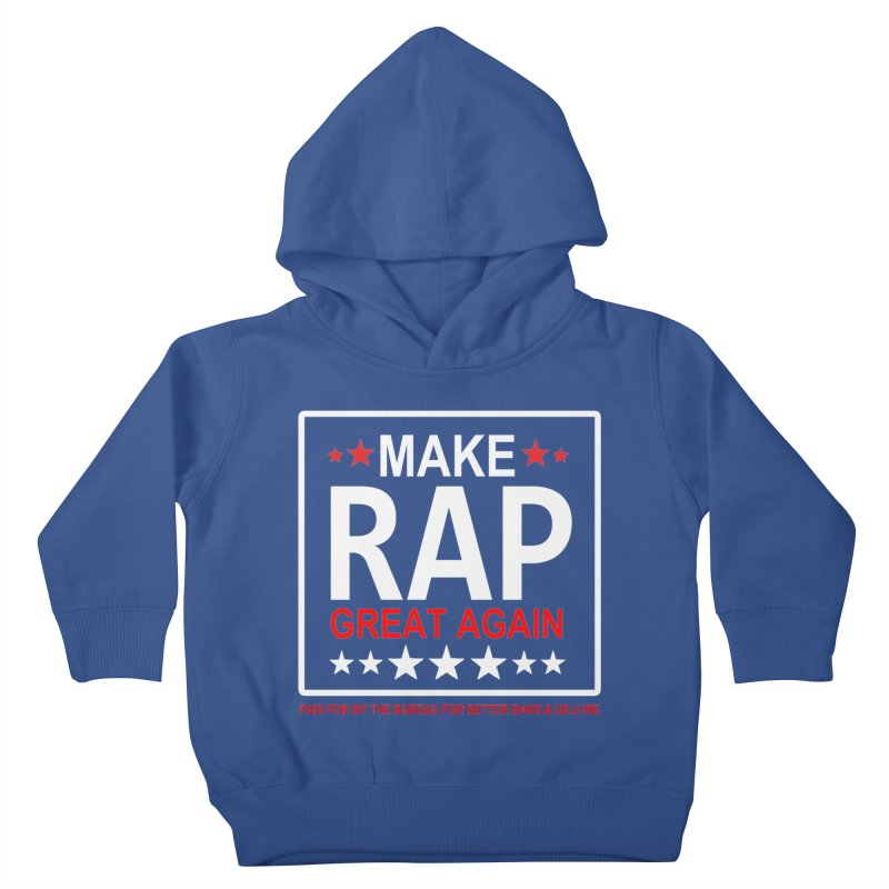 M.R.G.A. BLACK Kids Toddler Pullover Hoody by USUWE by Pugs Atomz