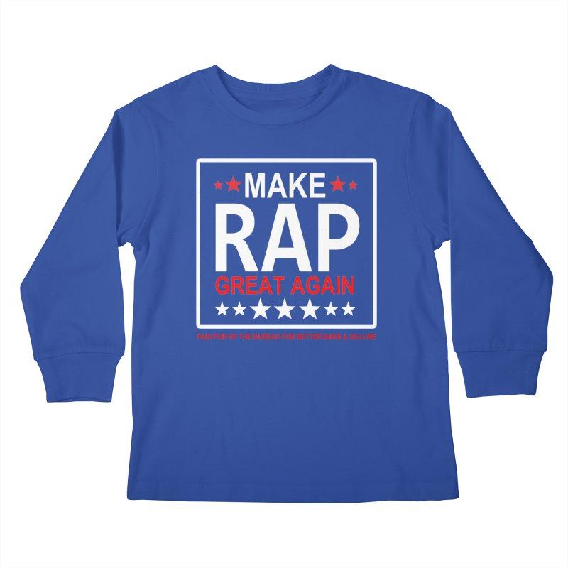 M.R.G.A. BLACK Kids Longsleeve T-Shirt by USUWE by Pugs Atomz