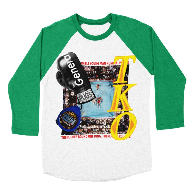 TKO Women's Baseball Triblend Longsleeve T-Shirt by USUWE by Pugs Atomz