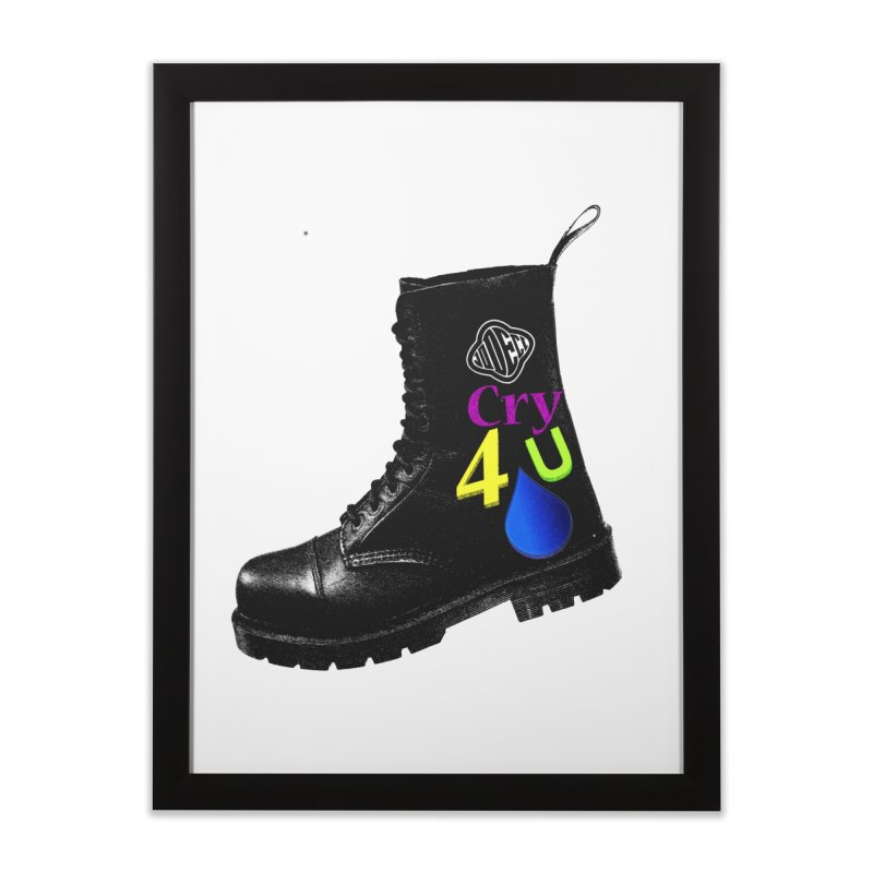 CRY 4 U Home Framed Fine Art Print by USUWE by Pugs Atomz