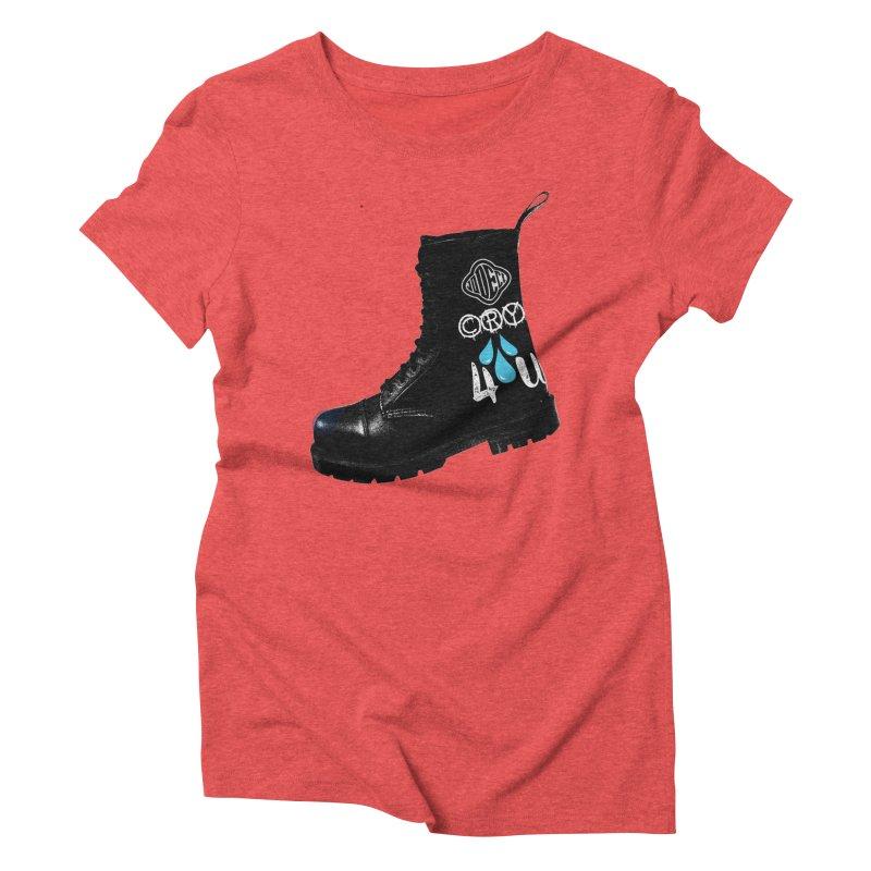 CRY 4 U Women's Triblend T-shirt by USUWE by Pugs Atomz