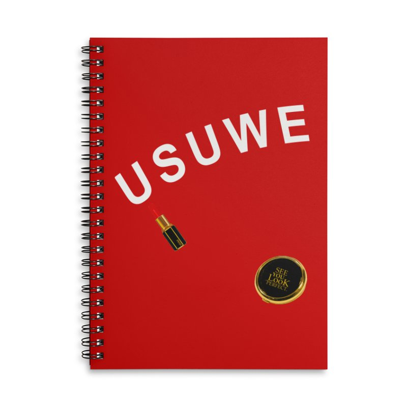 Lip Stick Accessories Lined Spiral Notebook by USUWE by Pugs Atomz