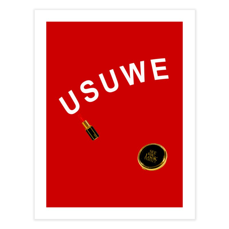 Lip Stick Home Fine Art Print by USUWE by Pugs Atomz