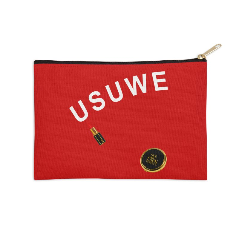 Lip Stick Accessories Zip Pouch by USUWE by Pugs Atomz