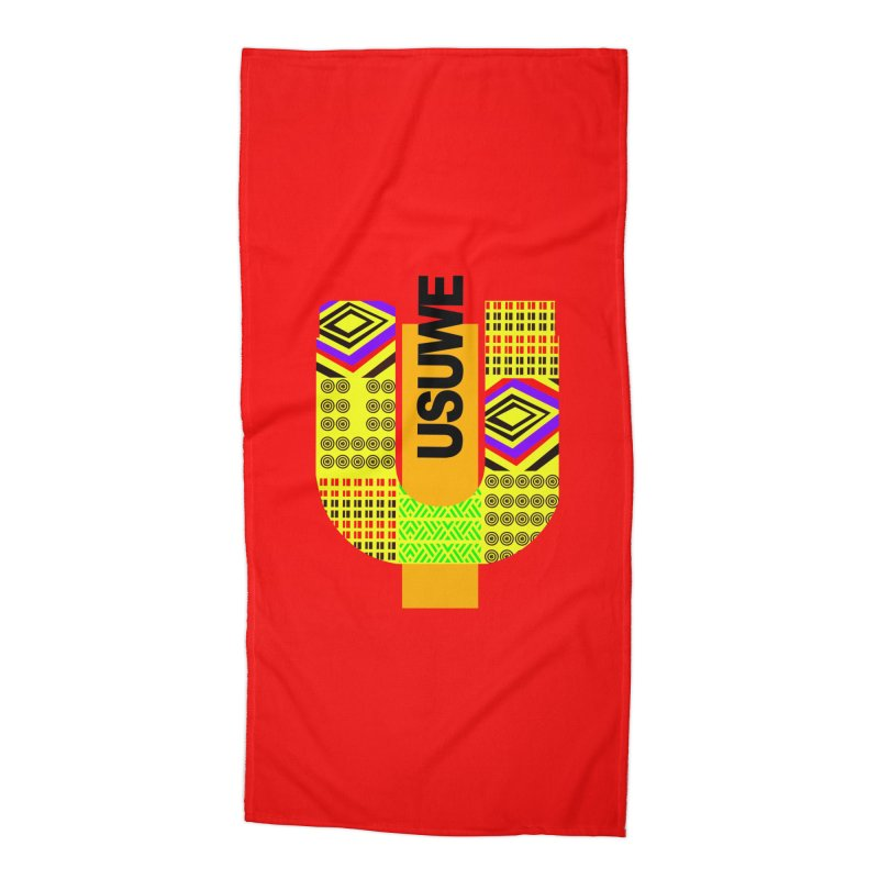 U Tribe Accessories Beach Towel by USUWE by Pugs Atomz