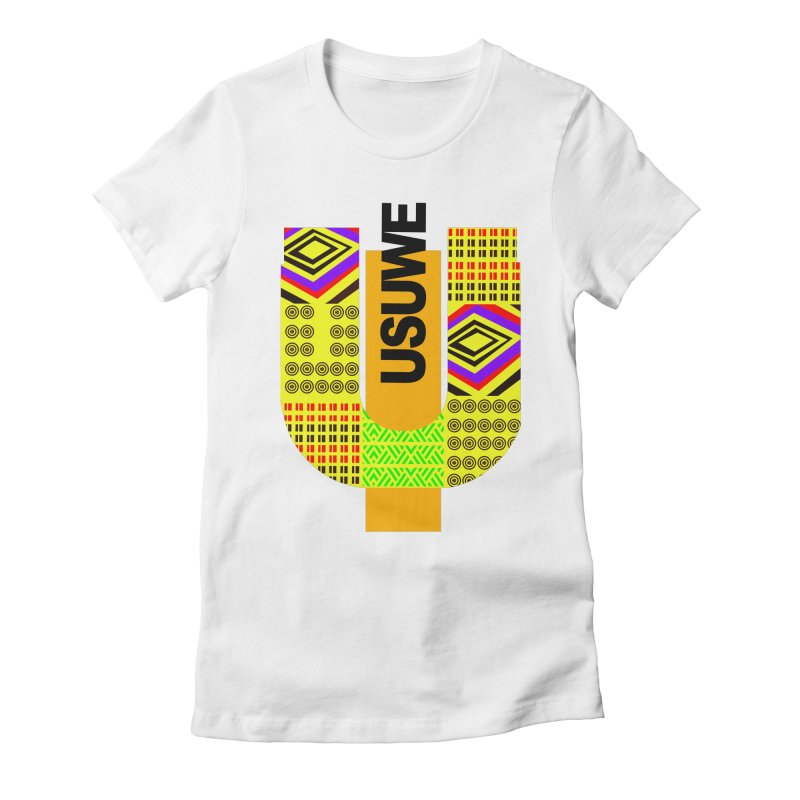 U Tribe Women's Fitted T-Shirt by USUWE by Pugs Atomz