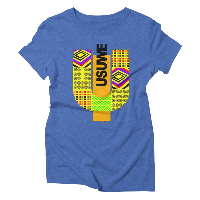 U Tribe Women's Triblend T-Shirt by USUWE by Pugs Atomz