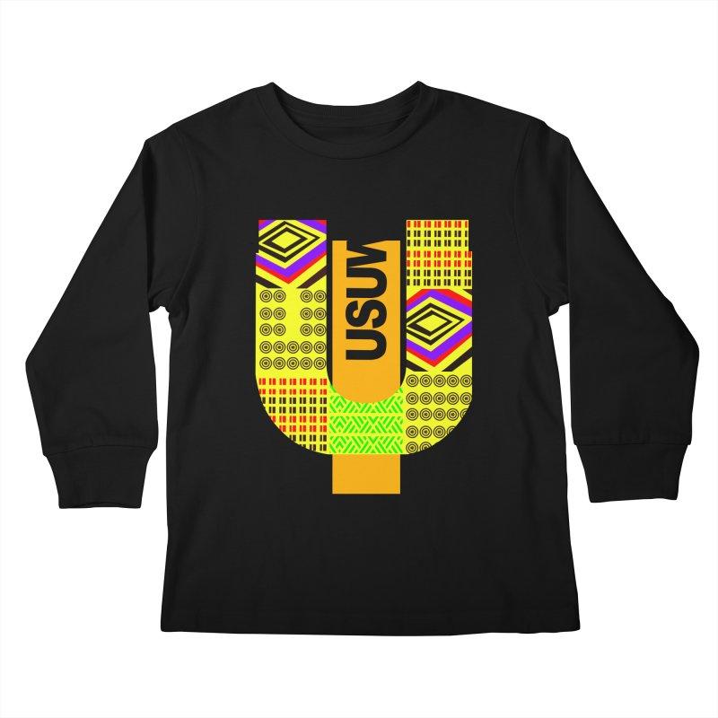 U Tribe Kids Longsleeve T-Shirt by USUWE by Pugs Atomz