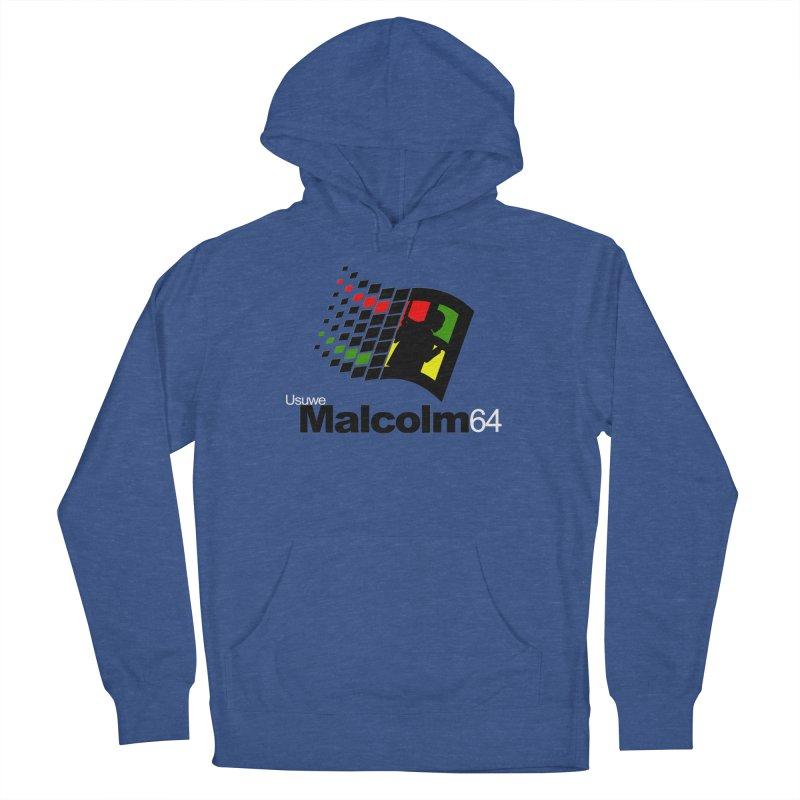 Windows 64 Men's French Terry Pullover Hoody by USUWE by Pugs Atomz