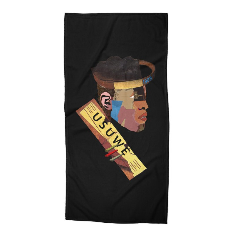 Statue Accessories Beach Towel by USUWE by Pugs Atomz