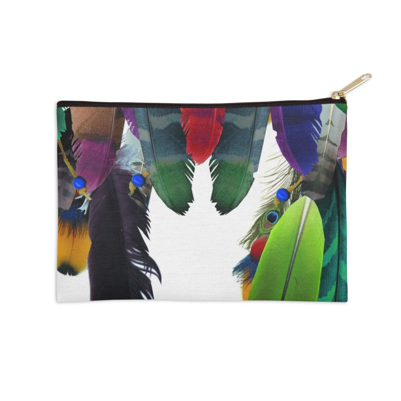 Feather Catcher Accessories Zip Pouch by USUWE by Pugs Atomz