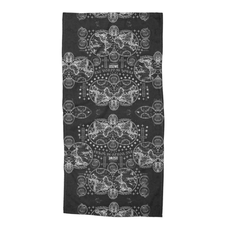 The world is yours Accessories Beach Towel by USUWE by Pugs Atomz