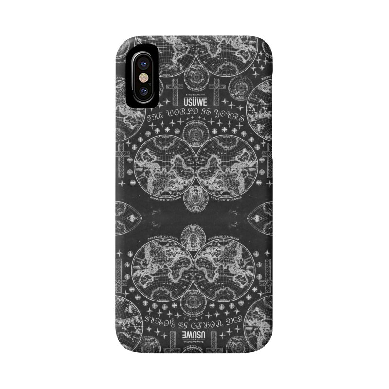 The world is yours in iPhone X / XS Phone Case Slim by USUWE by Pugs Atomz