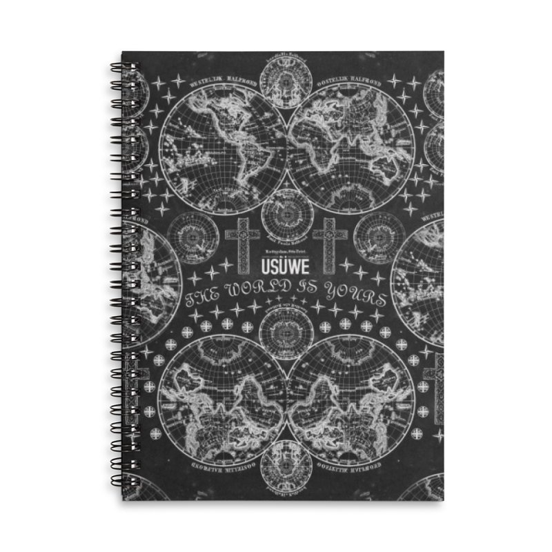 The world is yours Accessories Lined Spiral Notebook by USUWE by Pugs Atomz