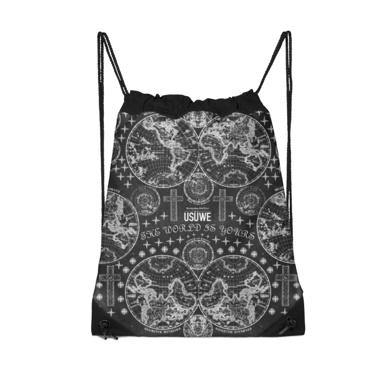 The world is yours Accessories Drawstring Bag Bag by USUWE by Pugs Atomz