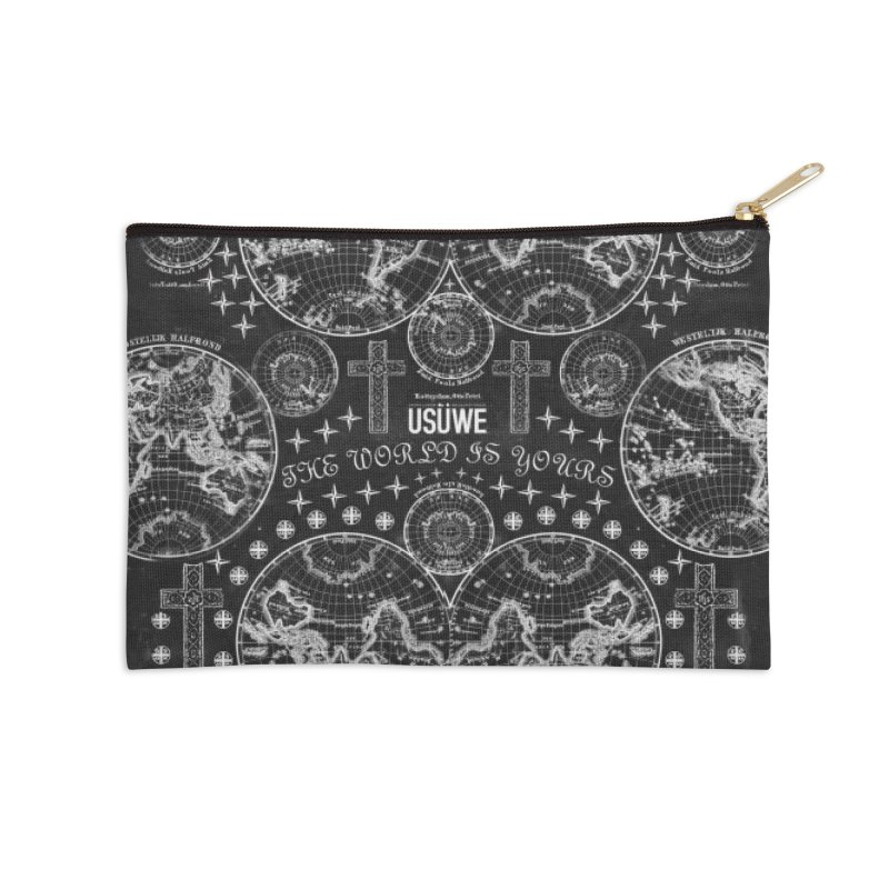 The world is yours Accessories Zip Pouch by USUWE by Pugs Atomz