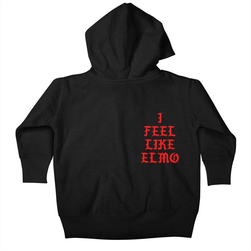 Feel like Elmo Kids Baby Zip-Up Hoody by USUWE by Pugs Atomz
