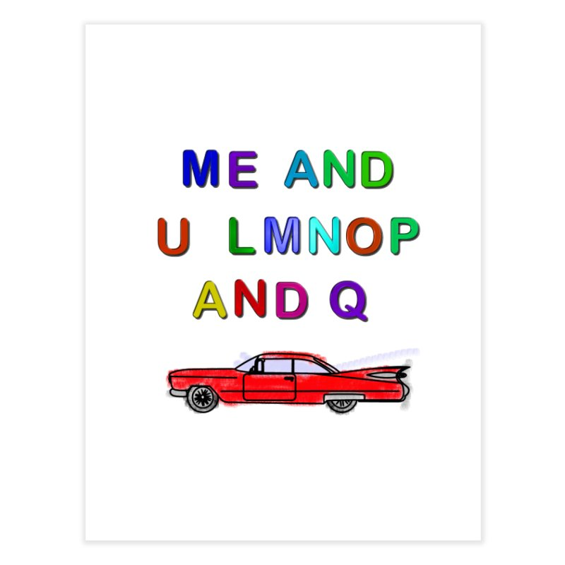 Me and U Home Fine Art Print by USUWE by Pugs Atomz