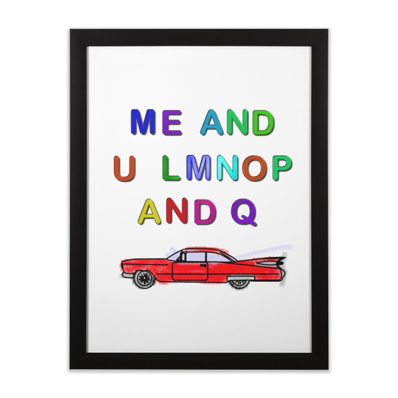 Me and U Home Framed Fine Art Print by USUWE by Pugs Atomz