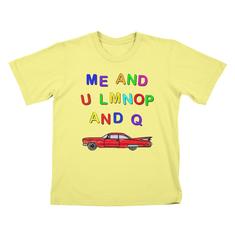 Me and U in Kids T-shirt Canary by USUWE by Pugs Atomz