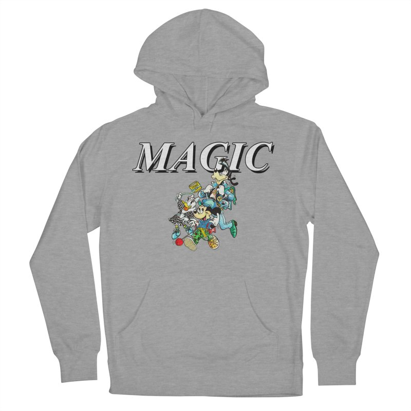 Magic in Men's French Terry Pullover Hoody Heather Graphite by USUWE by Pugs Atomz