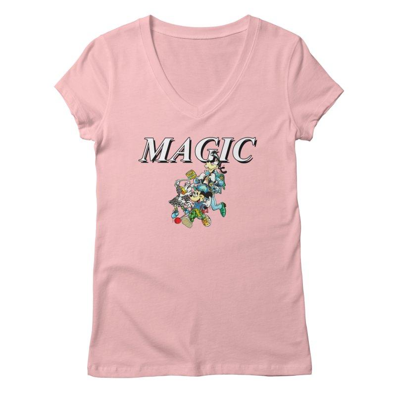 Magic Women's Regular V-Neck by USUWE by Pugs Atomz
