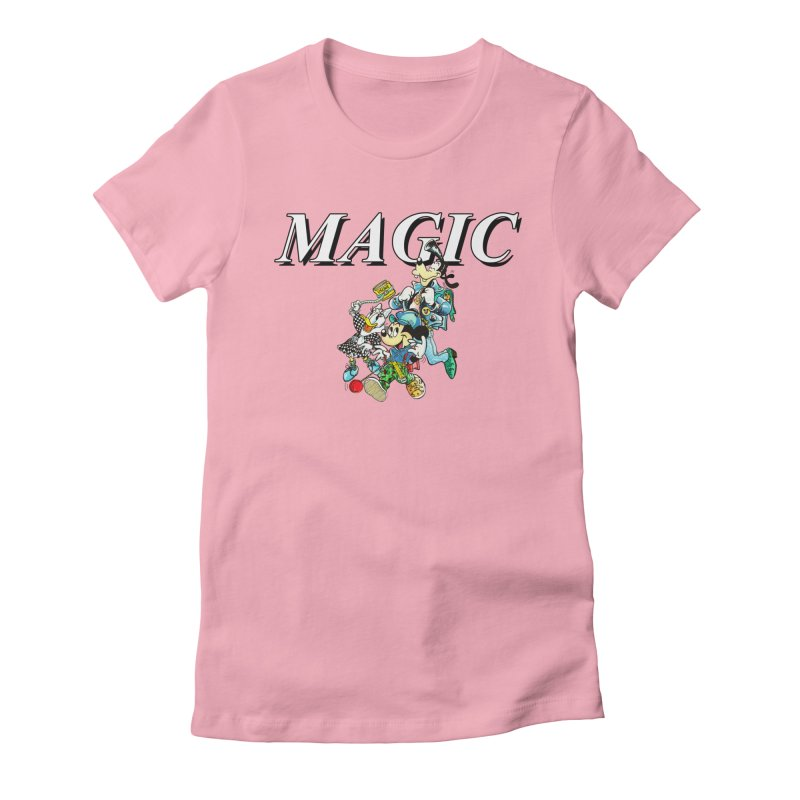 Magic Women's Fitted T-Shirt by USUWE by Pugs Atomz