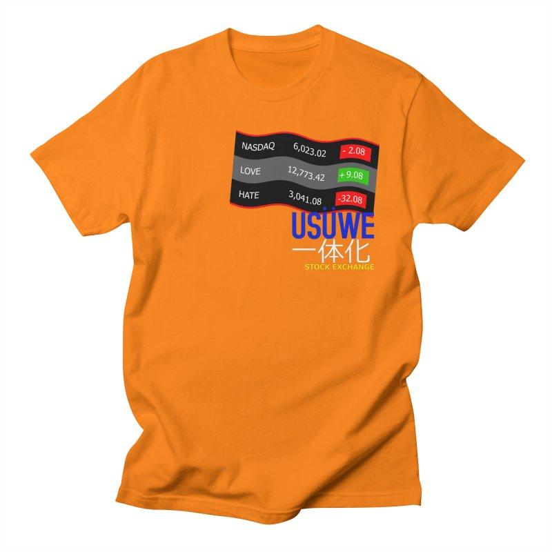 STOCK EXCHANGE Men's Regular T-Shirt by USUWE by Pugs Atomz