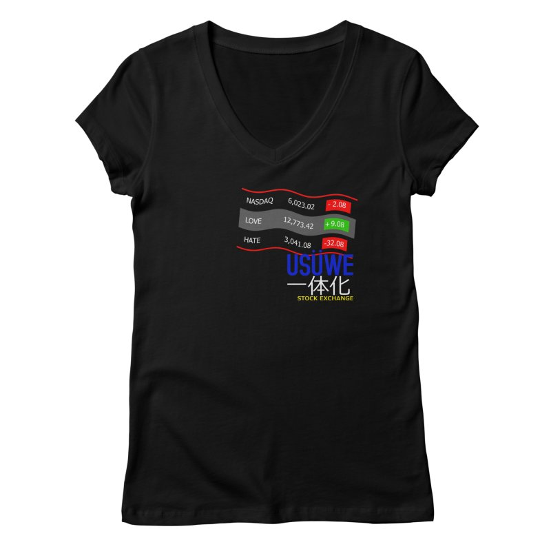 STOCK EXCHANGE Women's Regular V-Neck by USUWE by Pugs Atomz