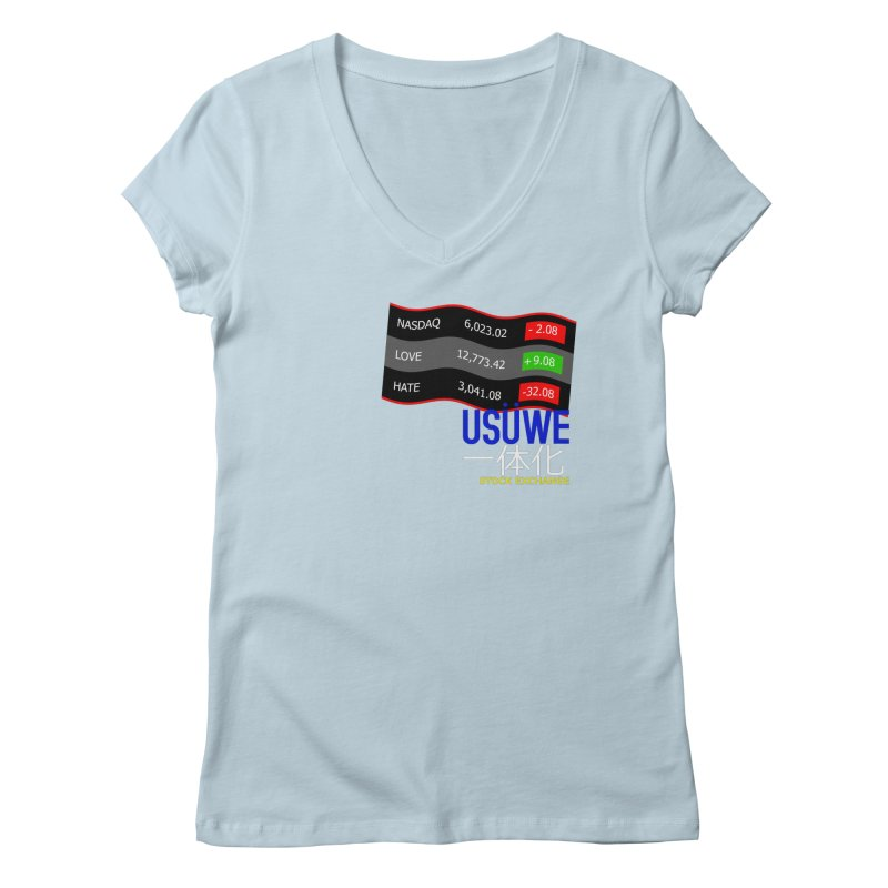 STOCK EXCHANGE Women's V-Neck by USUWE by Pugs Atomz