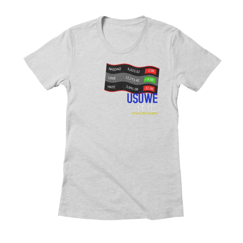 STOCK EXCHANGE Women's Fitted T-Shirt by USUWE by Pugs Atomz