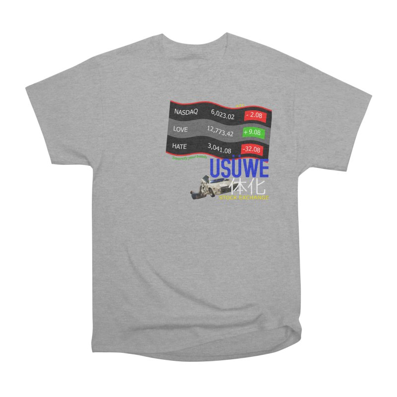 STOCK EXCHANGE Men's Heavyweight T-Shirt by USUWE by Pugs Atomz