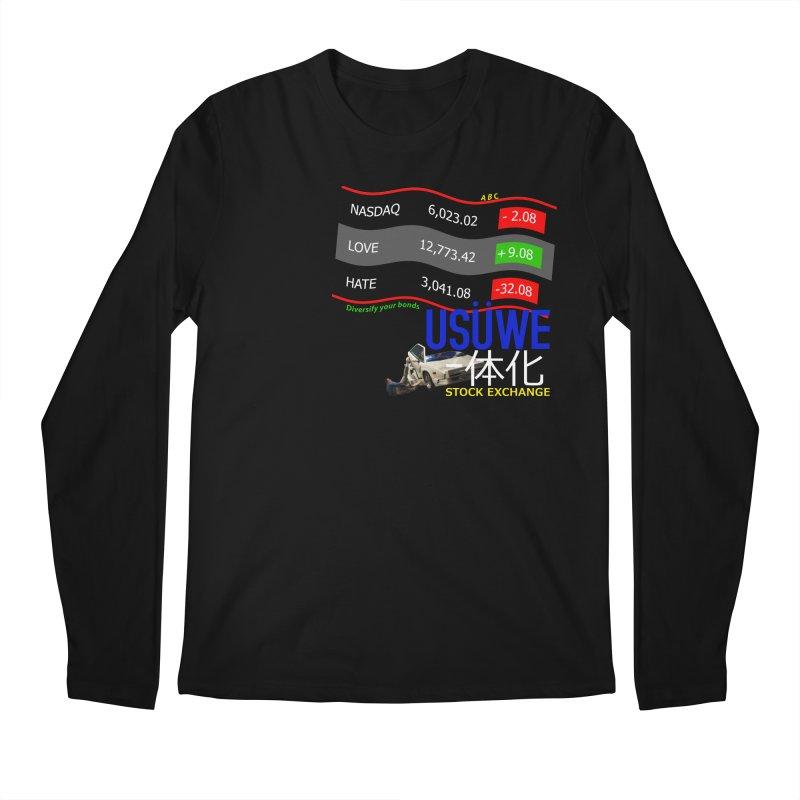 STOCK EXCHANGE Men's Regular Longsleeve T-Shirt by USUWE by Pugs Atomz