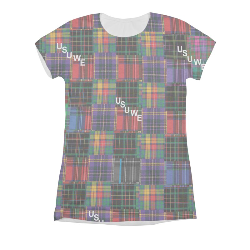 Tartan Patchwork Women's All Over Print by USUWE by Pugs Atomz