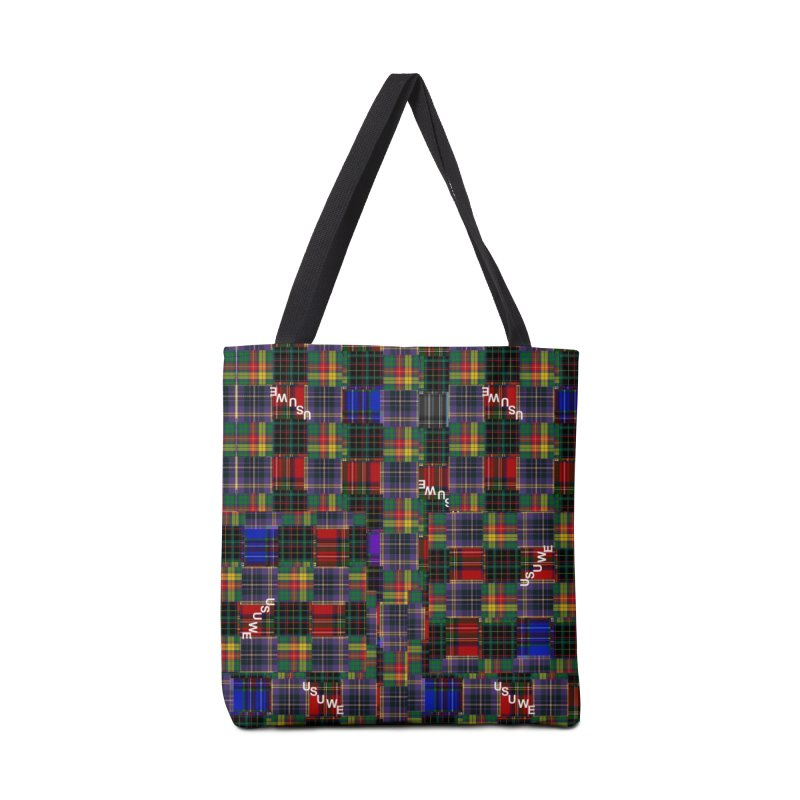 Tartan Patchwork Accessories Tote Bag Bag by USUWE by Pugs Atomz