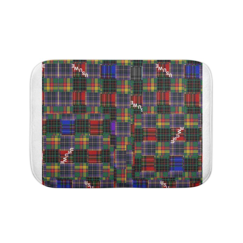 Tartan Patchwork Home Bath Mat by USUWE by Pugs Atomz