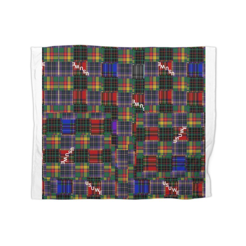 Tartan Patchwork Home Blanket by USUWE by Pugs Atomz