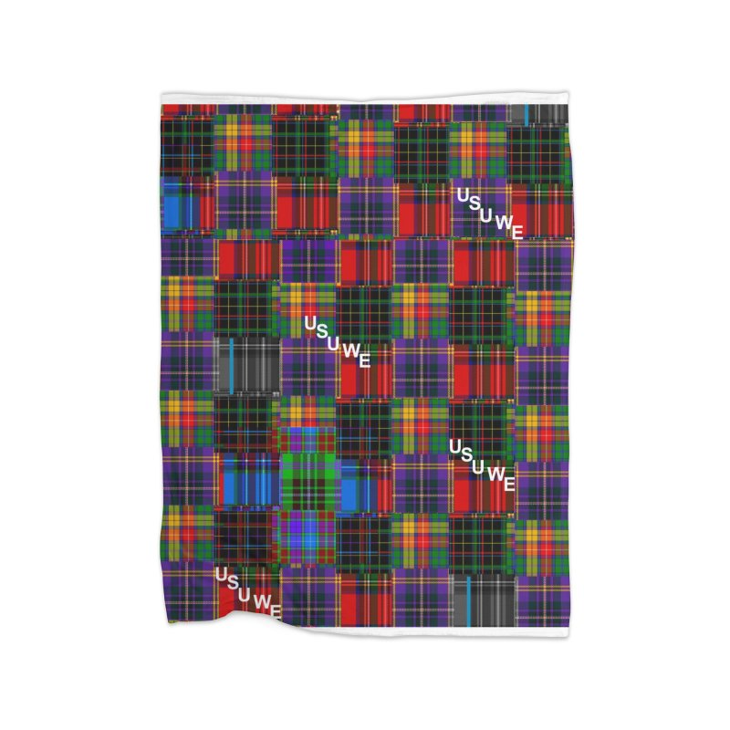 Michigan Ave. Plaid Home Blanket by USUWE by Pugs Atomz