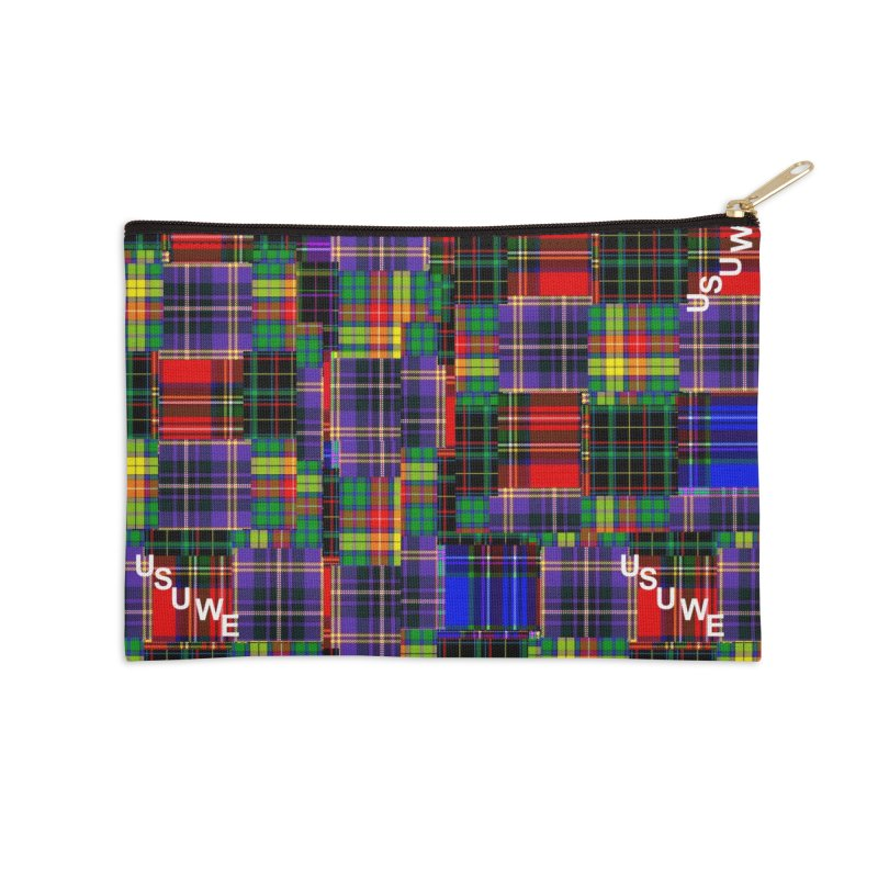 Tartan Patchwork Accessories Zip Pouch by USUWE by Pugs Atomz
